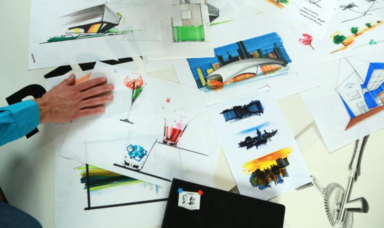 Zeichnungen vom Workshop Ideen visualisieren