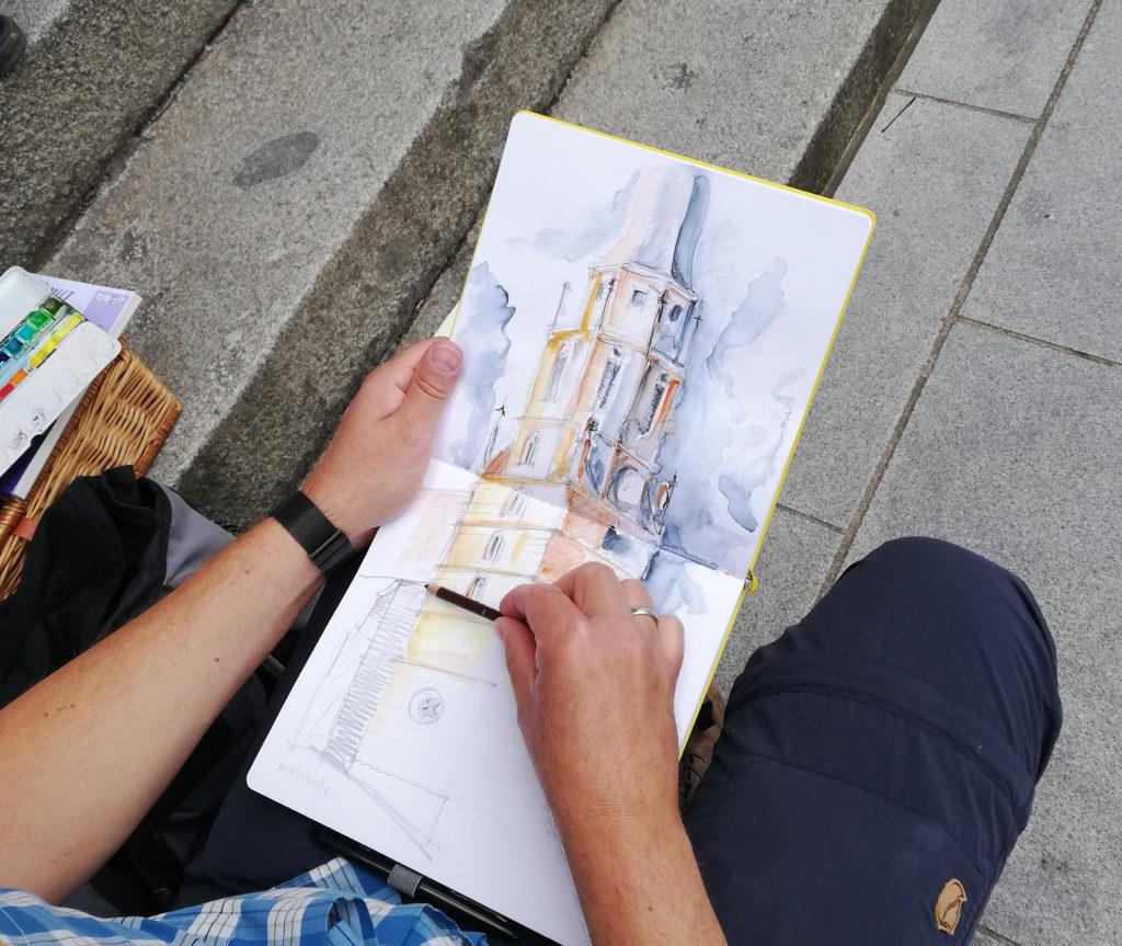 Zeichnung vom Coburger Sunday Sketching