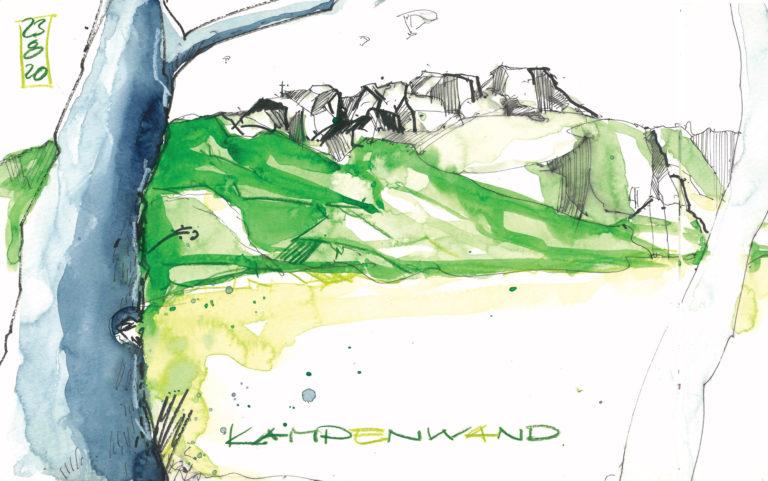 Zeichnung vom Mountain Sketching Chiemgau