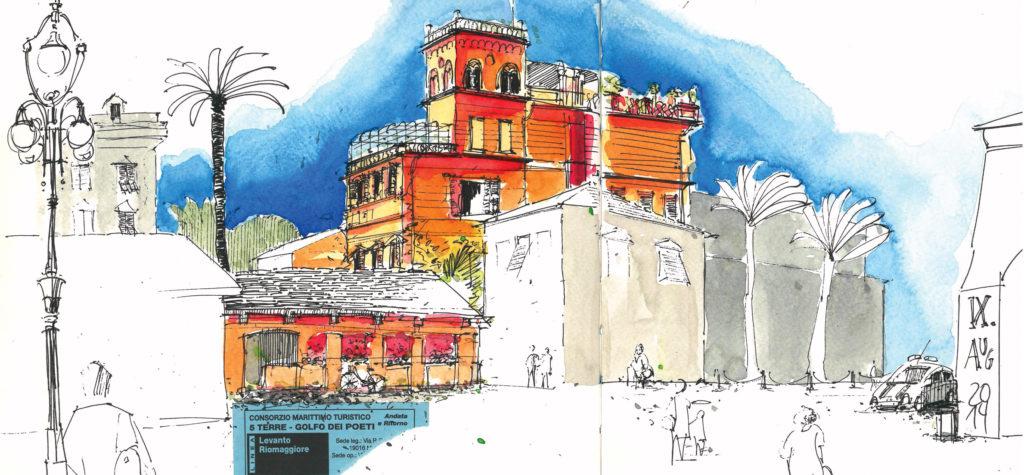 Zeichnung aus Urban Sketchbook