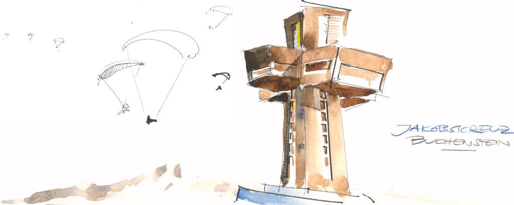 Zeichnung aus Mountain Sketchbook