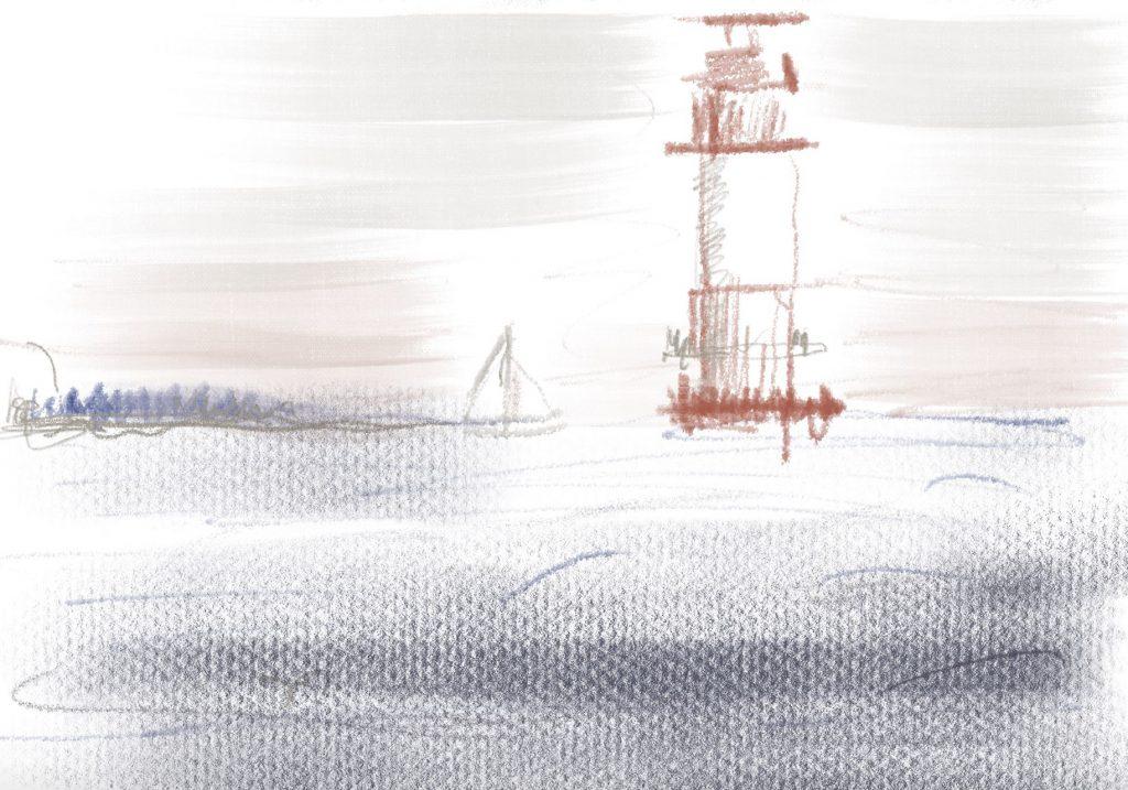 Zeichnung vom iPad Workshop Landschaft Jahreszeit