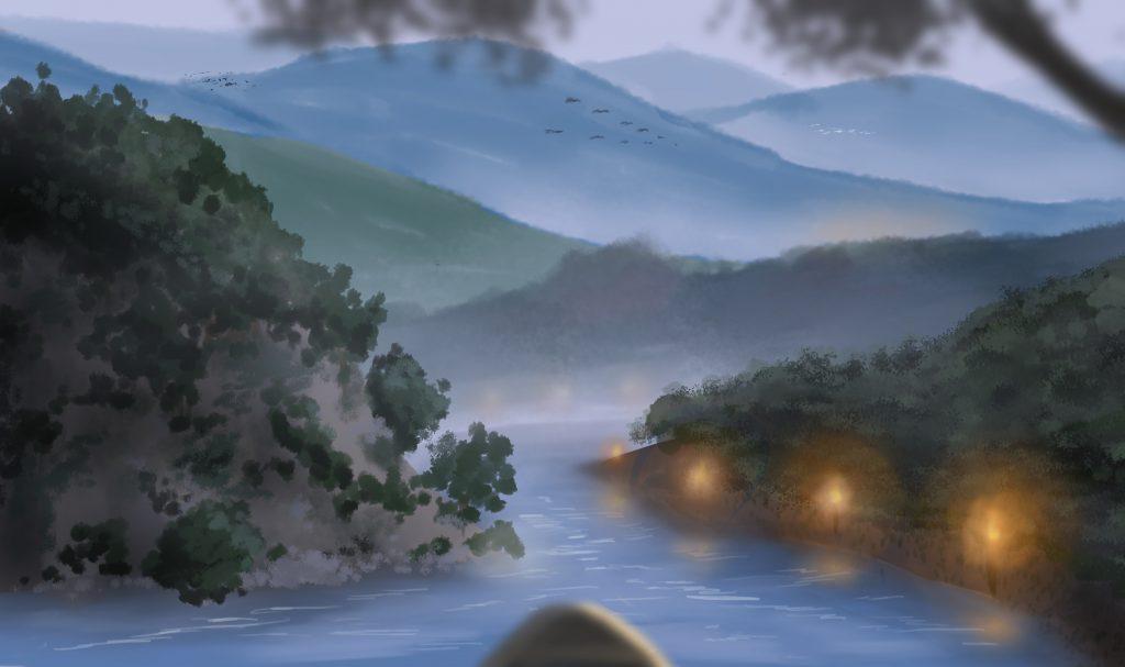 Zeichnung vom iPad Workshop Landschaft in Szene