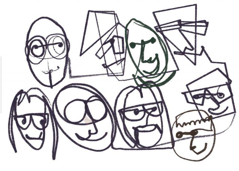 Zeichnung vom Sketchnoting Workshop Kreative Köpfe