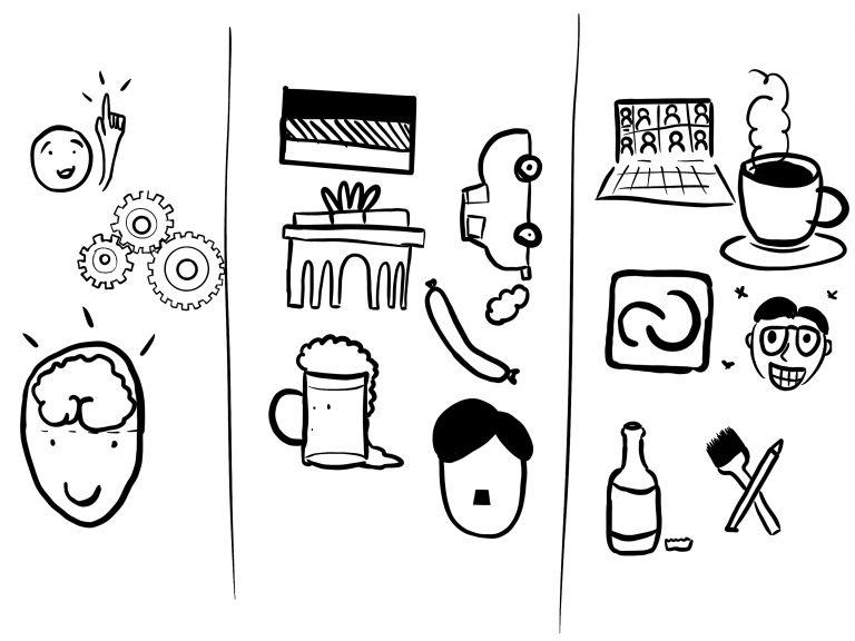 Zeichnung vom Sketchnoting Workshop Meine Symbolbibliothek