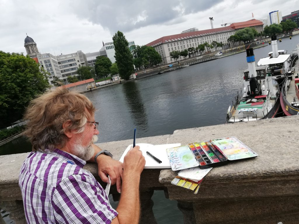 Zeichnung von Urban Sketching Berlin Mitte