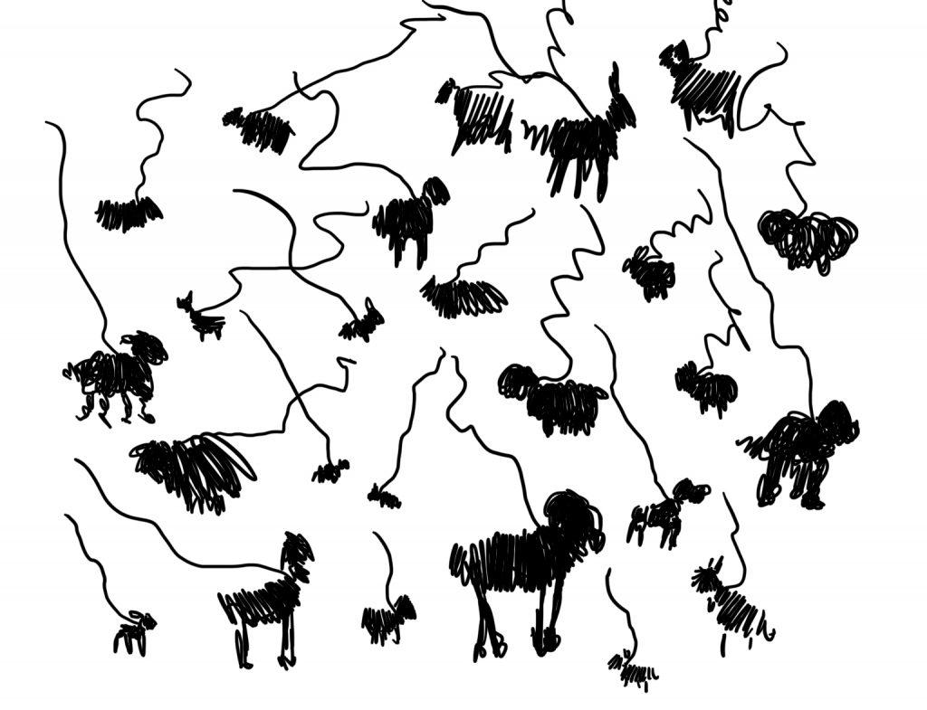 Zeichnung vom Scribbelworkshop Auf den Hund gekommen